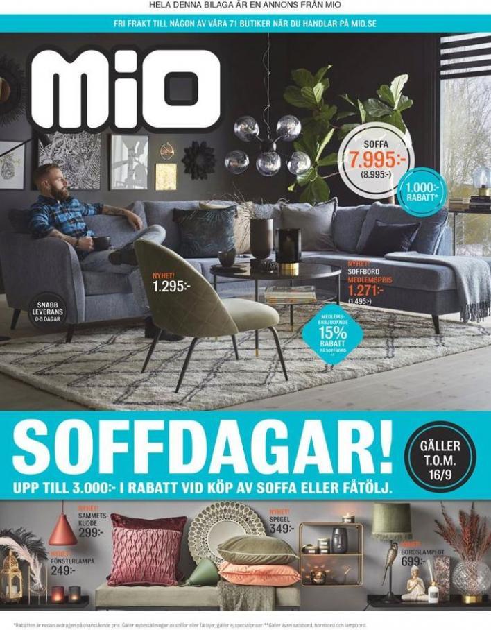 Mio Erbjudande Soffdagar! . Mio (2019-09-16-2019-09-16)