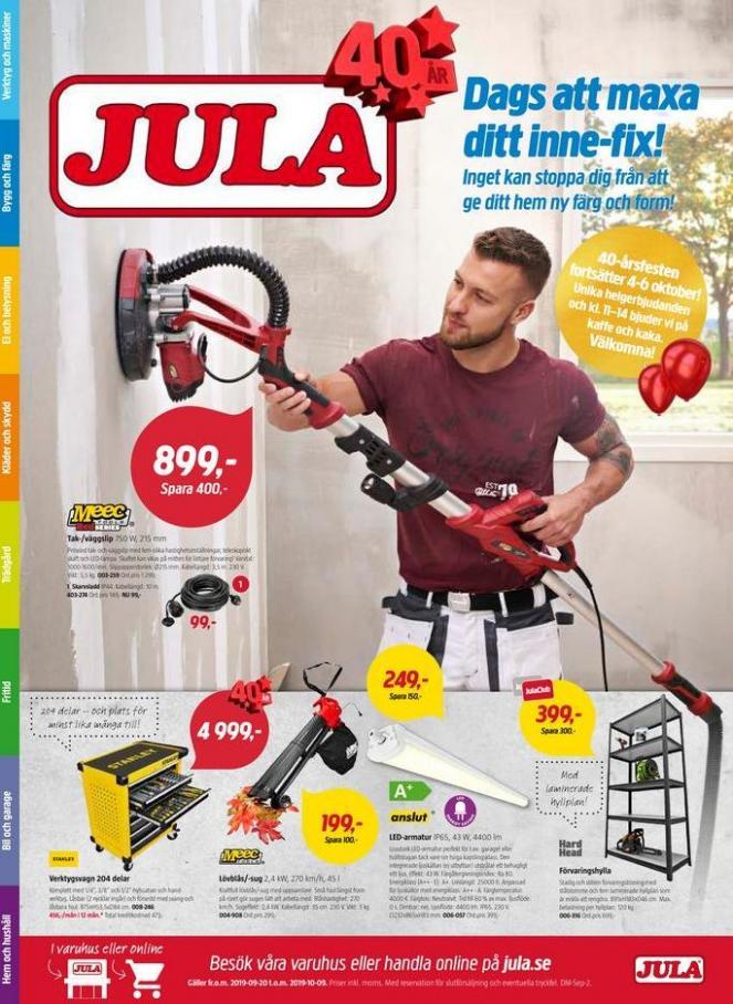 Jula reklamblad . Jula (2019-10-09-2019-10-09)