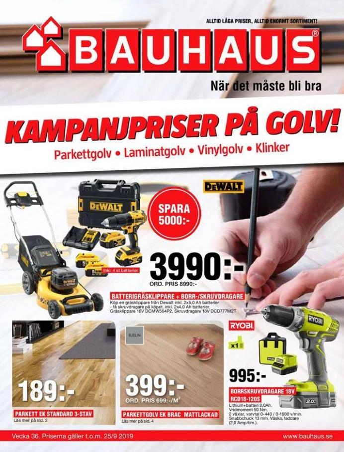 Bauhaus Erbjudande Kampanjpriser på golv! . Bauhaus (2019-09-25-2019-09-25)