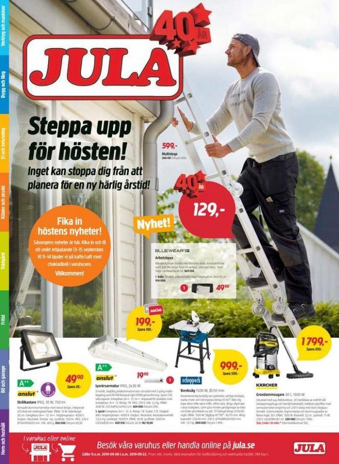 Jula reklamblad . Jula (2019-09-22-2019-09-22)