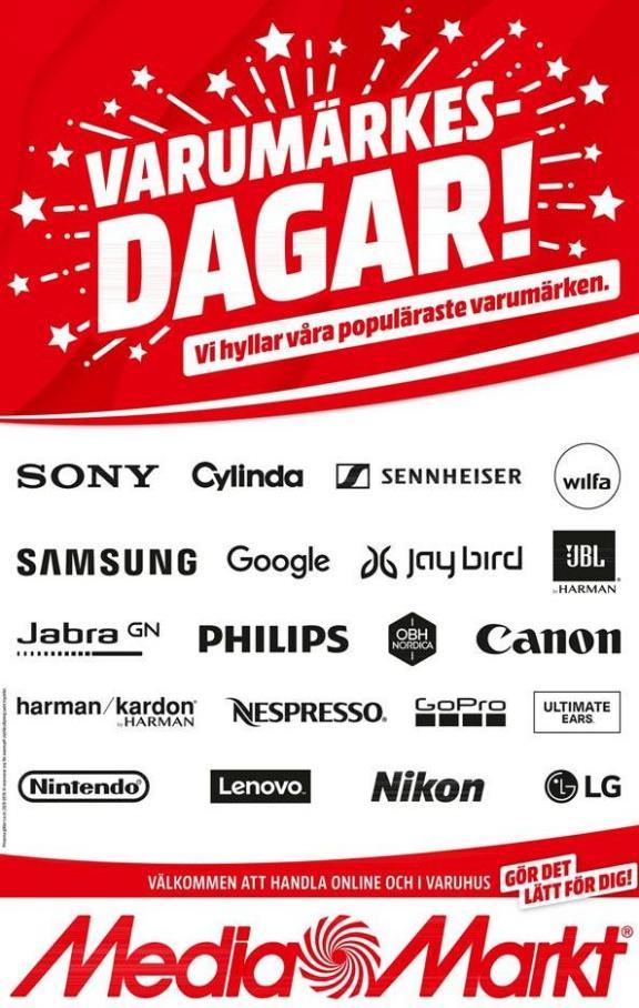 Markt Erbjudande Varumärkes Dagar! . Media Markt (2019-09-29-2019-09-29)