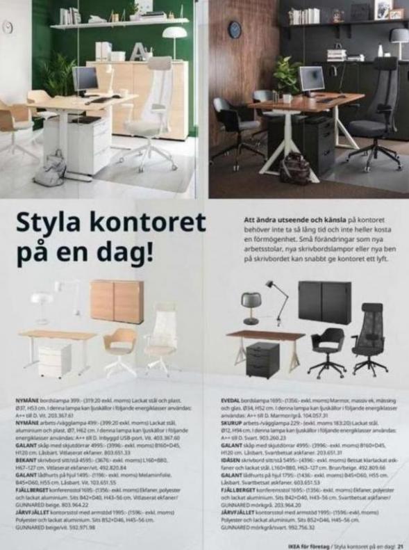 IKEA för företag 2020 . Page 21