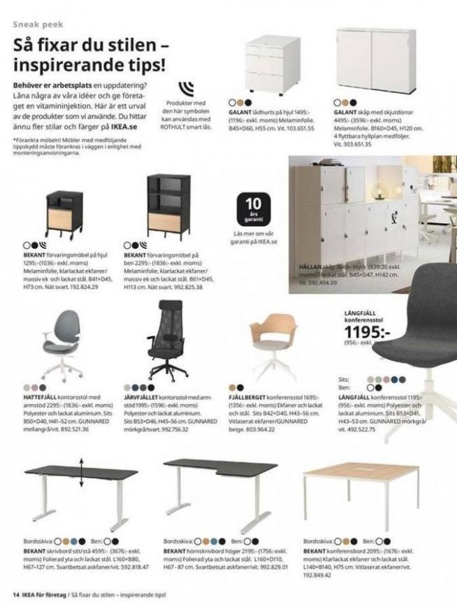 IKEA för företag 2020 . Page 14