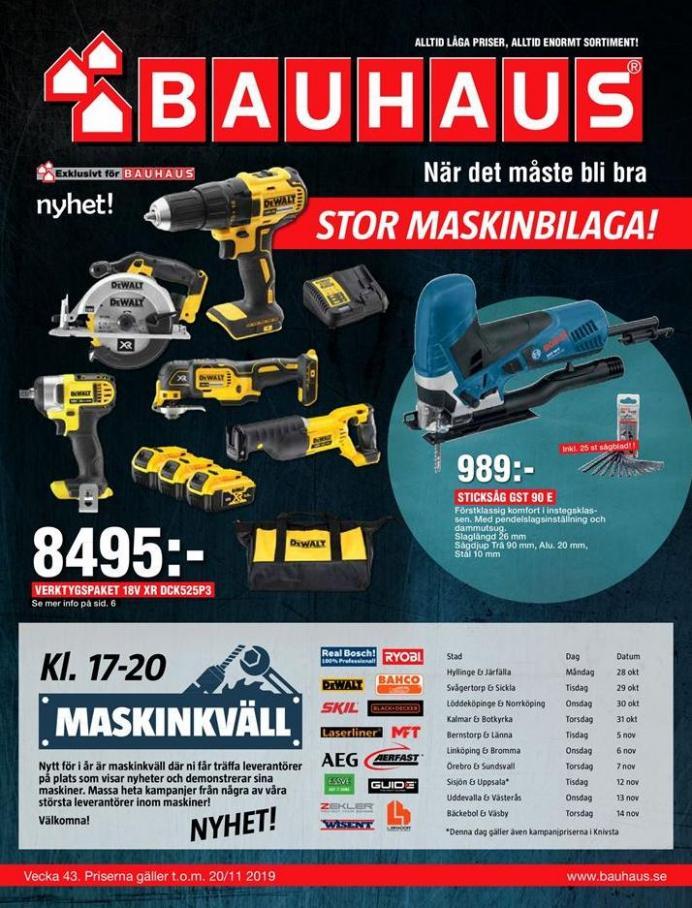 Bauhaus Erbjudande Stor Maskinbilaga! . Bauhaus (2019-11-20-2019-11-20)