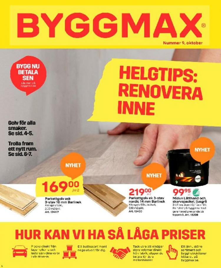 Byggmax Erbjudande Kampanjer . Byggmax (2019-10-13-2019-10-13)
