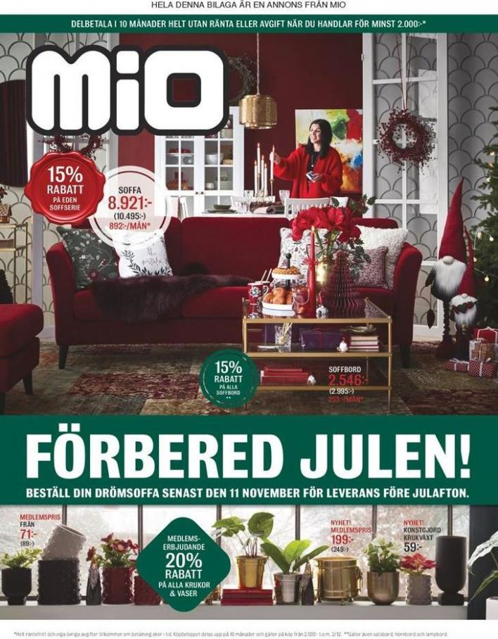 Mio Erbjudande Förbered Julen! . Mio (2019-12-02-2019-12-02)