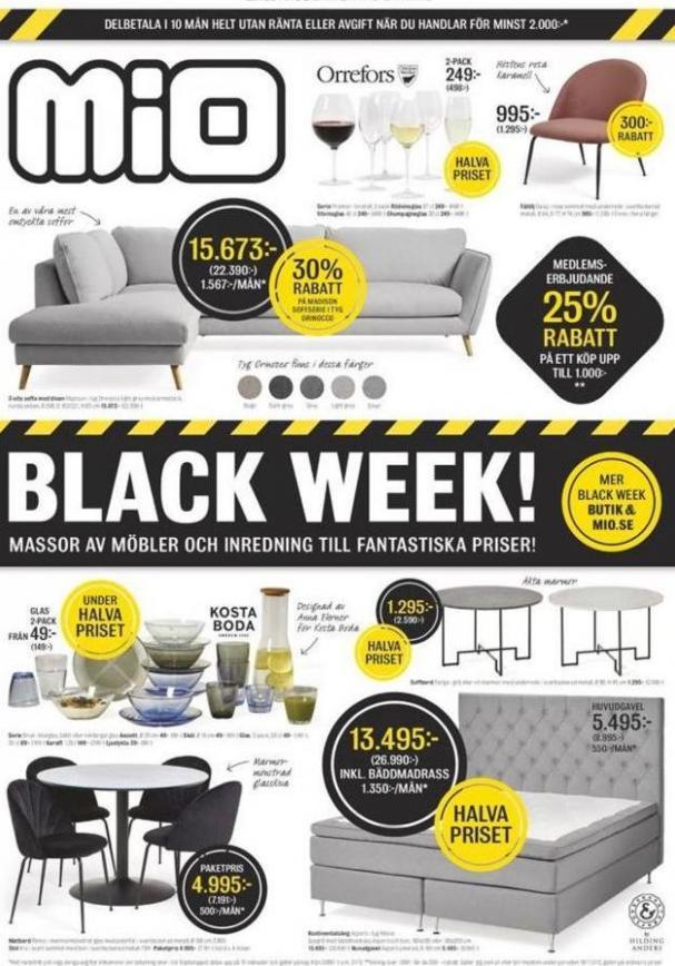 Mio Erbjudande Black Week! . Mio (2019-12-02-2019-12-02)