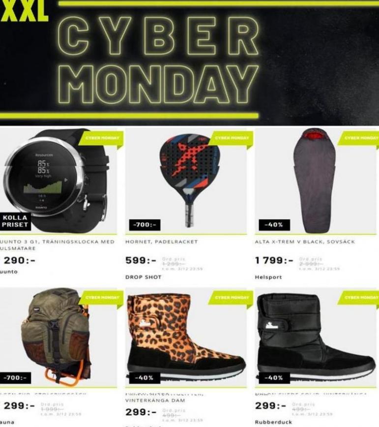XXL Erbjudande Cyber Monday . XXL (2019-12-02-2019-12-02)