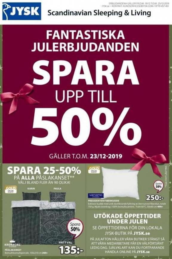 Julerbjudanden . JYSK (2019-12-23-2019-12-23)
