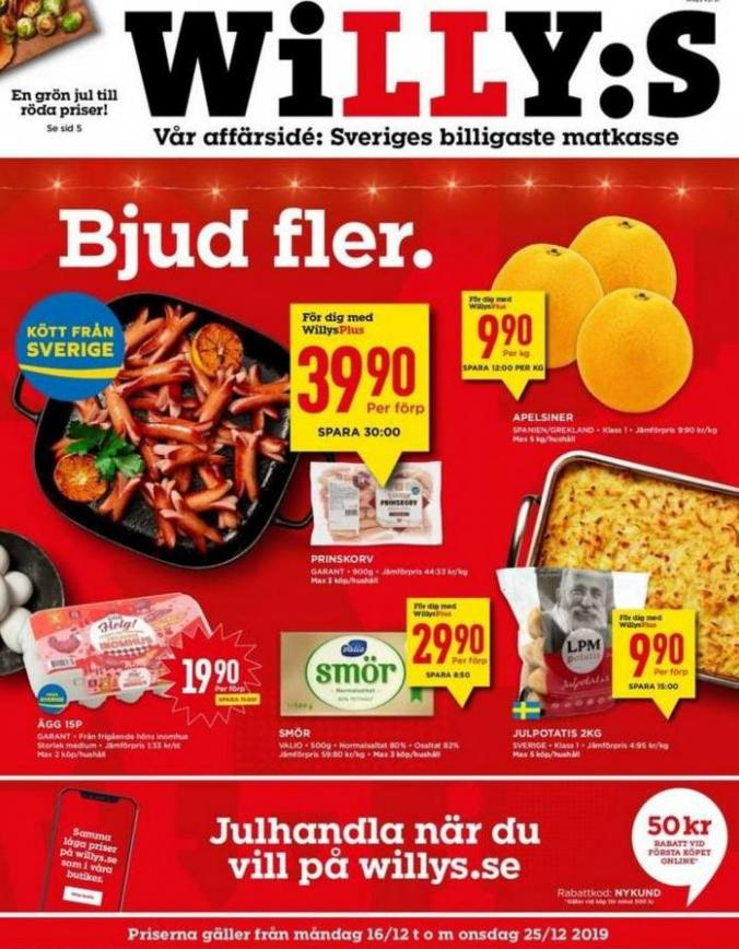 Willys reklamblad . Willys (2019-12-25-2019-12-25)