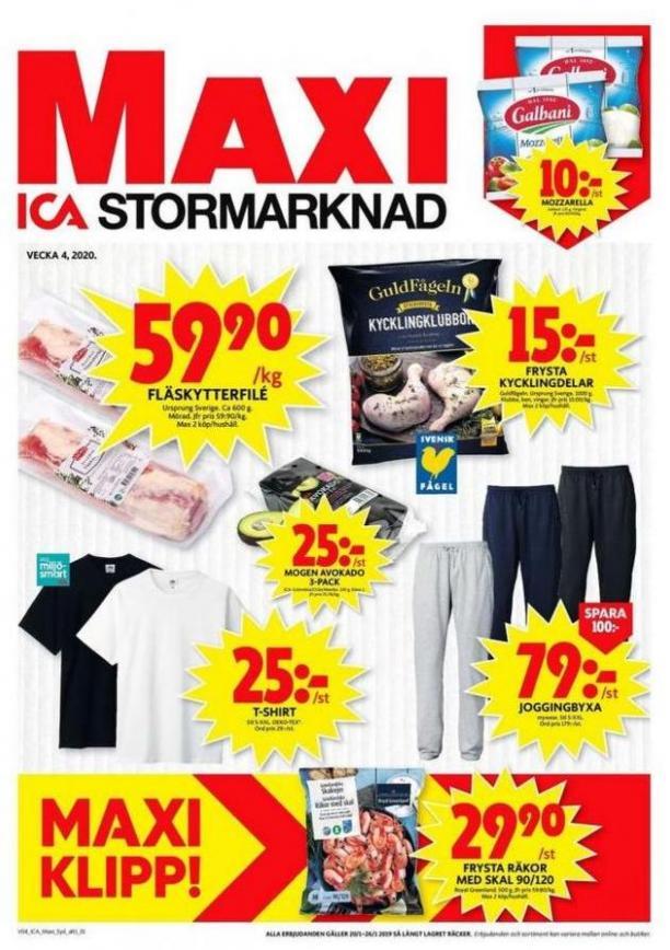 ICA Maxi Erbjudanden . ICA Maxi (2020-01-26-2020-01-26)