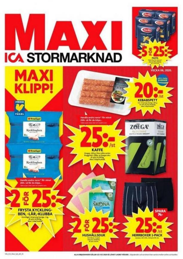 ICA Maxi Erbjudanden . ICA Maxi (2020-02-09-2020-02-09)