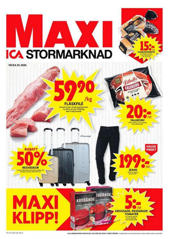 ICA Maxi Erbjudanden . ICA Maxi (2020-02-16-2020-02-16)