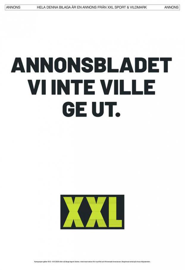 XXL Erbjudande Annonsbladet vi inte ville ge ut . XXL (2020-03-08-2020-03-08)