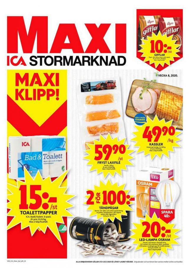 ICA Maxi Erbjudanden . ICA Maxi (2020-02-23-2020-02-23)