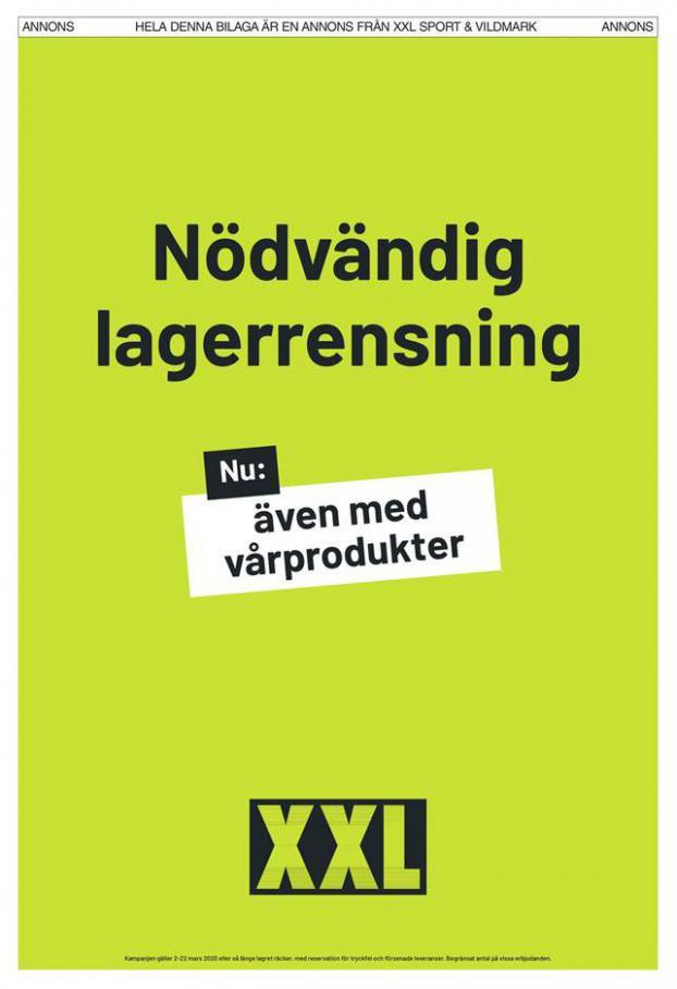 XXL Erbjudande Nödvändig lagerrensning . XXL (2020-03-22-2020-03-22)
