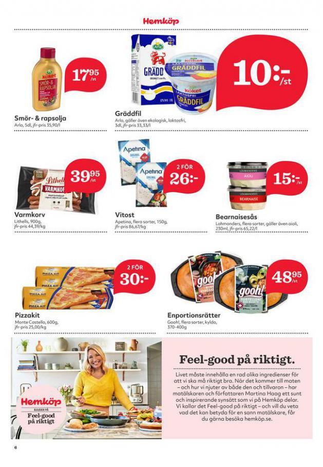 Hemköp reklamblad . Page 6