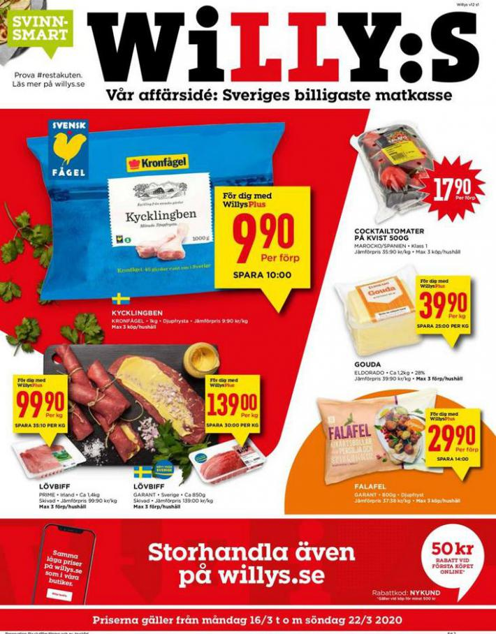 Willys reklamblad . Willys (2020-03-22-2020-03-22)