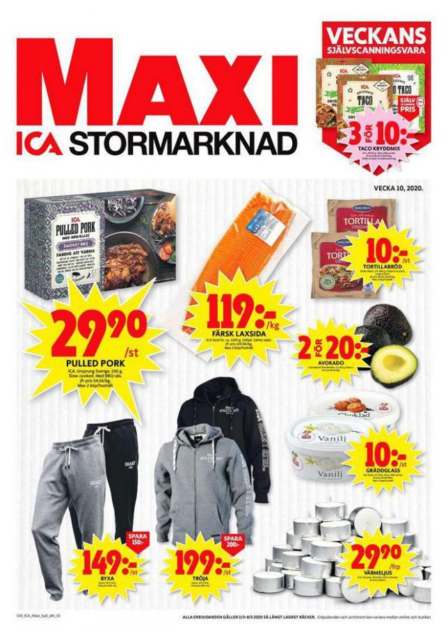 ICA Maxi Erbjudanden . ICA Maxi (2020-03-08-2020-03-08)