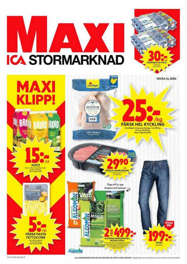 ICA Maxi Erbjudanden . ICA Maxi (2020-03-29-2020-03-29)