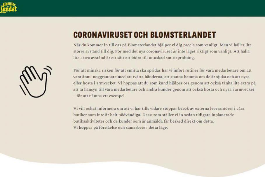 Blomsterlandet Erbjudande Coronaviruset . Blomsterlandet (2020-04-30-2020-04-30)