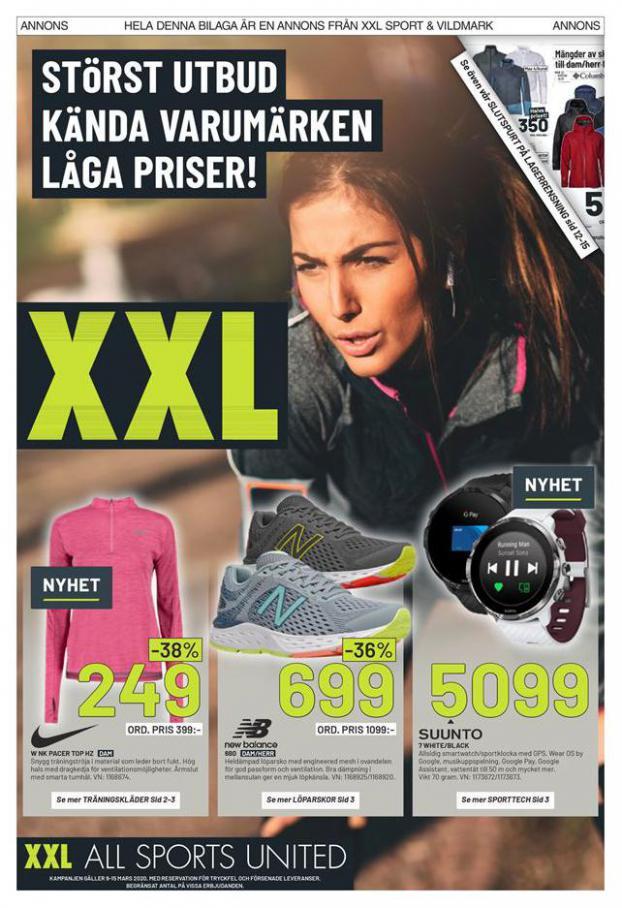 XXL Erbjudande Störst Utbud Kända Varumärken Låga Priser! . XXL (2020-03-15-2020-03-15)