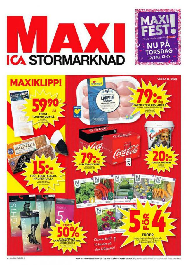 ICA Maxi Erbjudanden . ICA Maxi (2020-03-15-2020-03-15)