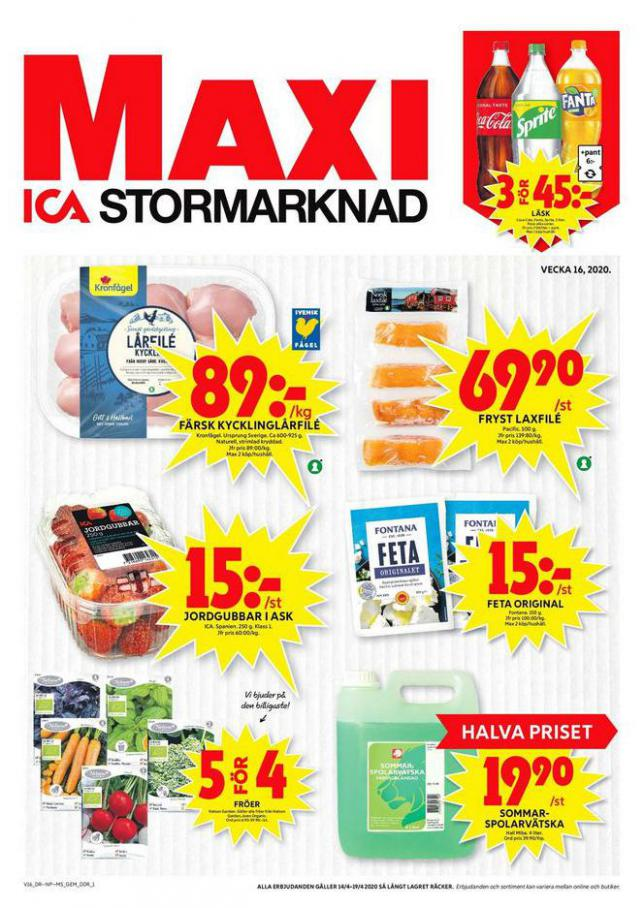 ICA Maxi Erbjudanden . ICA Maxi (2020-04-19-2020-04-19)