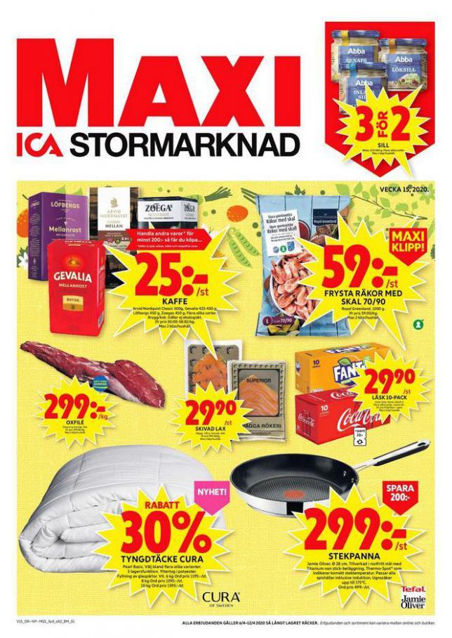 ICA Maxi Erbjudanden . ICA Maxi (2020-04-12-2020-04-12)