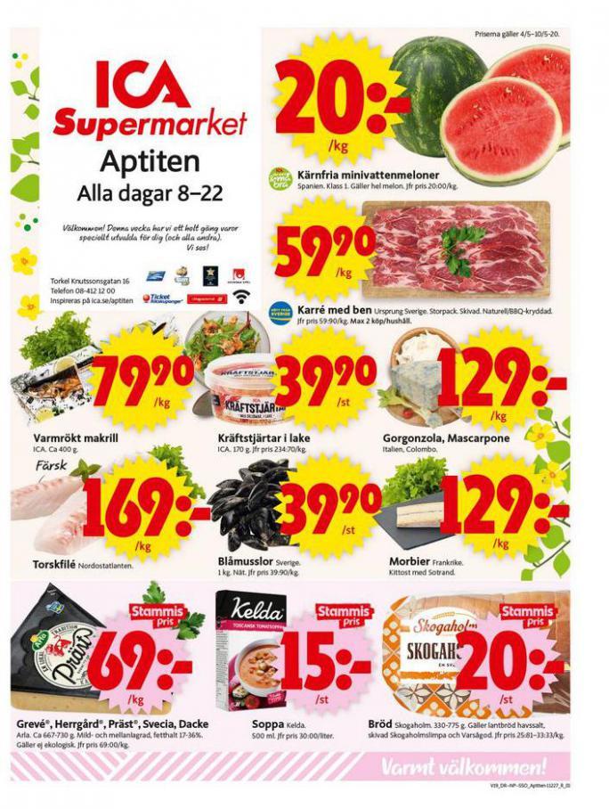 ICA Supermarket Erbjudanden . ICA Supermarket (2020-05-10-2020-05-10)