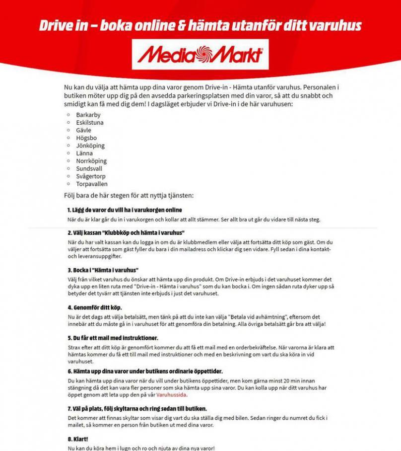 Drive-in  . Media Markt (2020-05-11-2020-05-11)