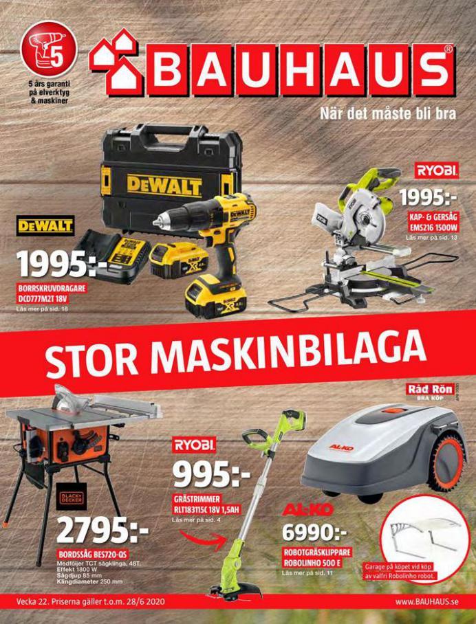 Bauhaus Erbjudande Stor Maskinbilaga . Bauhaus (2020-06-28-2020-06-28)
