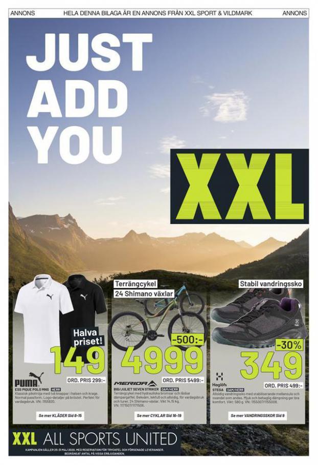 XXL Erbjudande Just add You . XXL (2020-05-31-2020-05-31)