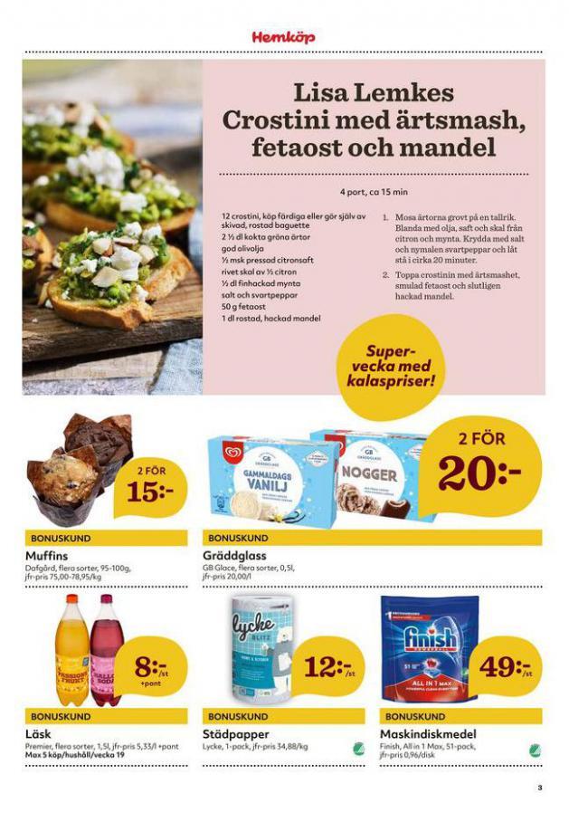 Hemköp reklamblad . Page 3