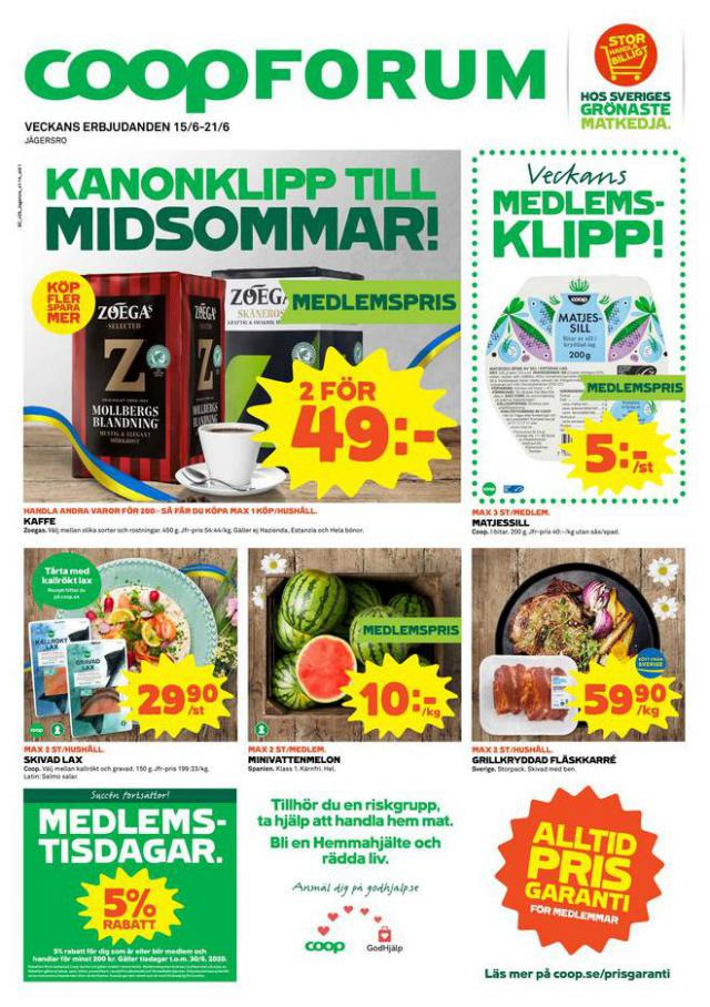 Coop Forum reklamblad . Coop Forum (2020-06-21-2020-06-21)