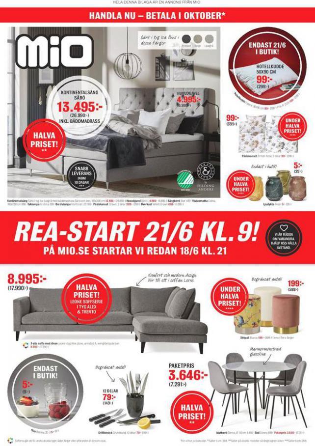 Mio Erbjudande Rea-Start 21/6 KL.9! . Mio (2020-08-10-2020-08-10)