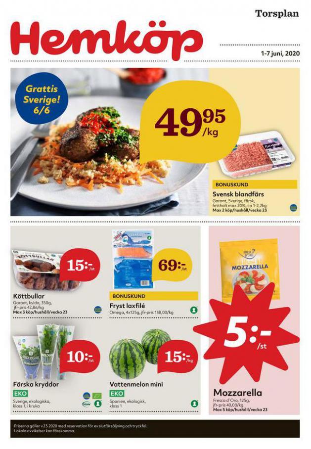 Hemköp reklamblad . Page 1