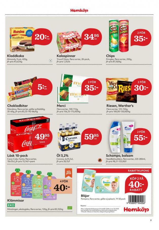 Hemköp reklamblad . Page 7