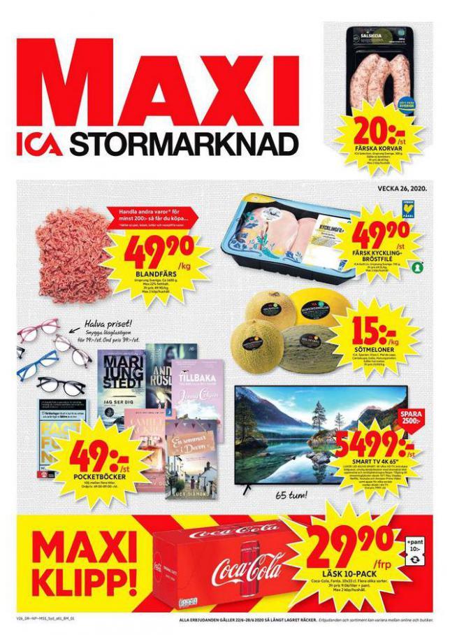 ICA Maxi Erbjudanden . ICA Maxi (2020-06-28-2020-06-28)