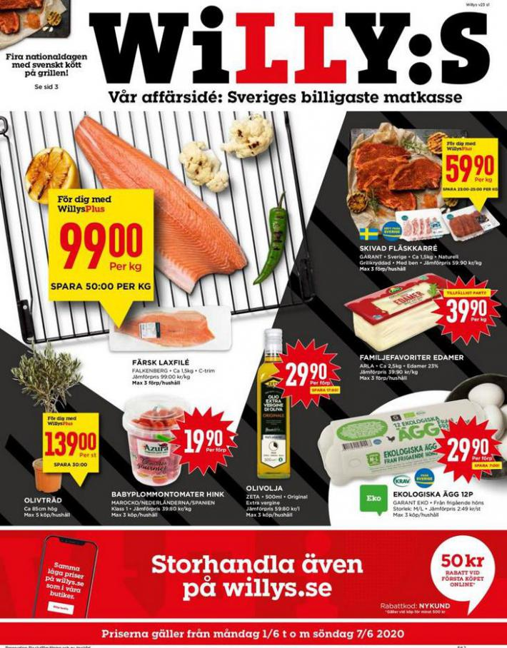 Willys reklamblad . Willys (2020-06-07-2020-06-07)