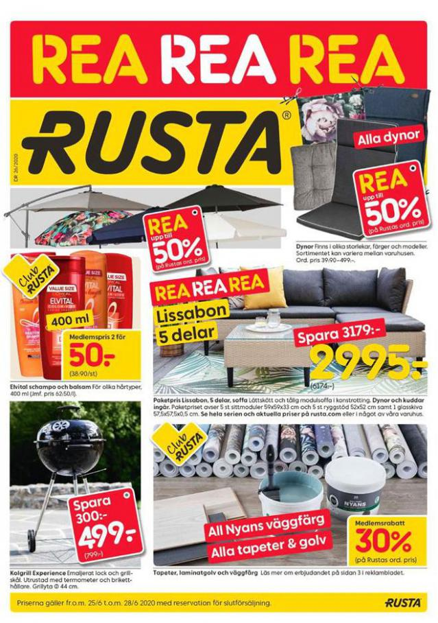 Rusta Erbjudande Kampanjer . Rusta (2020-06-28-2020-06-28)