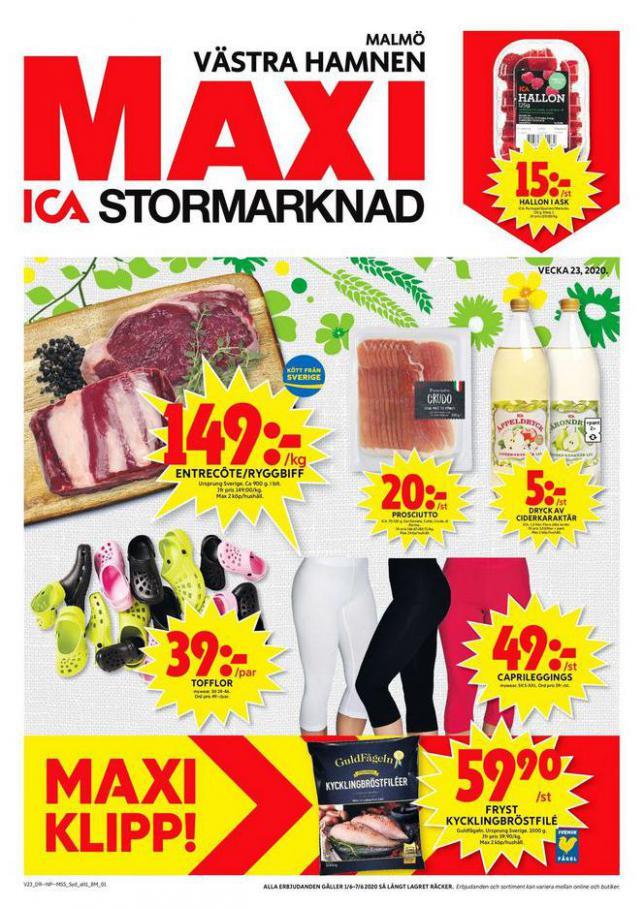 ICA Maxi Erbjudanden . ICA Maxi (2020-06-07-2020-06-07)