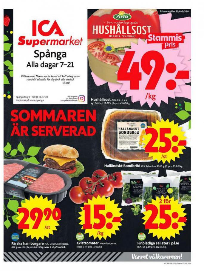 ICA Supermarket Erbjudanden . ICA Supermarket (2020-07-05-2020-07-05)