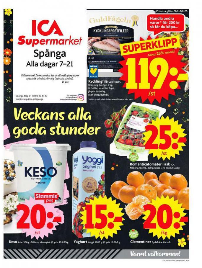 ICA Supermarket Erbjudanden . ICA Supermarket (2020-08-02-2020-08-02)