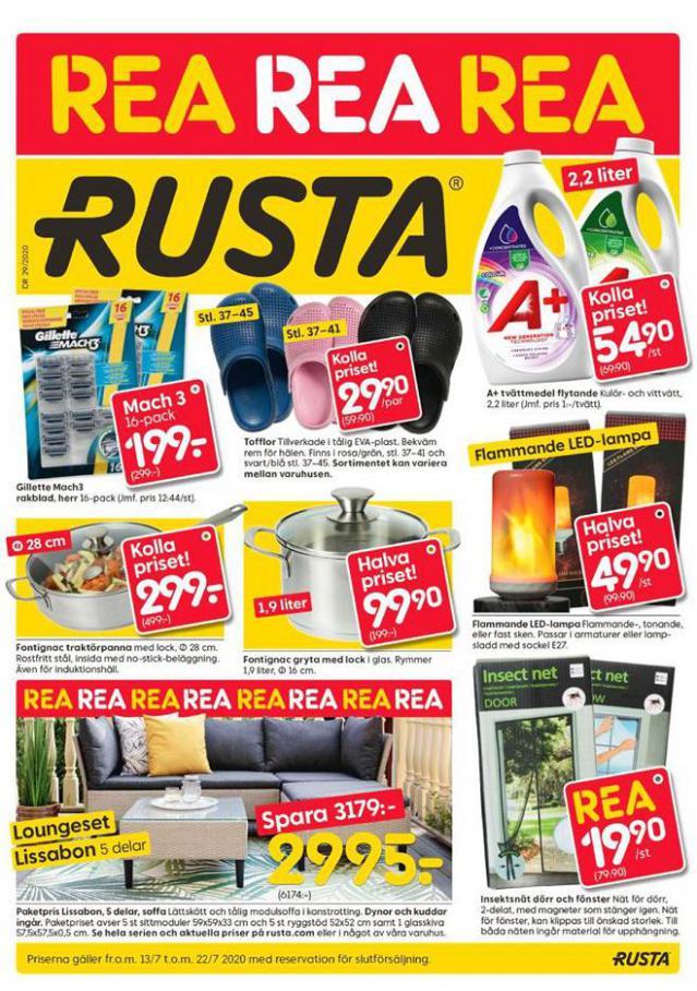 Rusta Erbjudande Kampanjer . Rusta (2020-07-22-2020-07-22)
