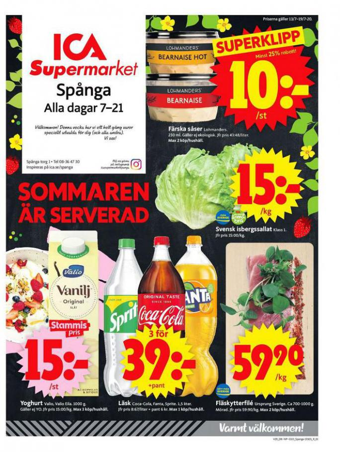 ICA Supermarket Erbjudanden . ICA Supermarket (2020-07-19-2020-07-19)