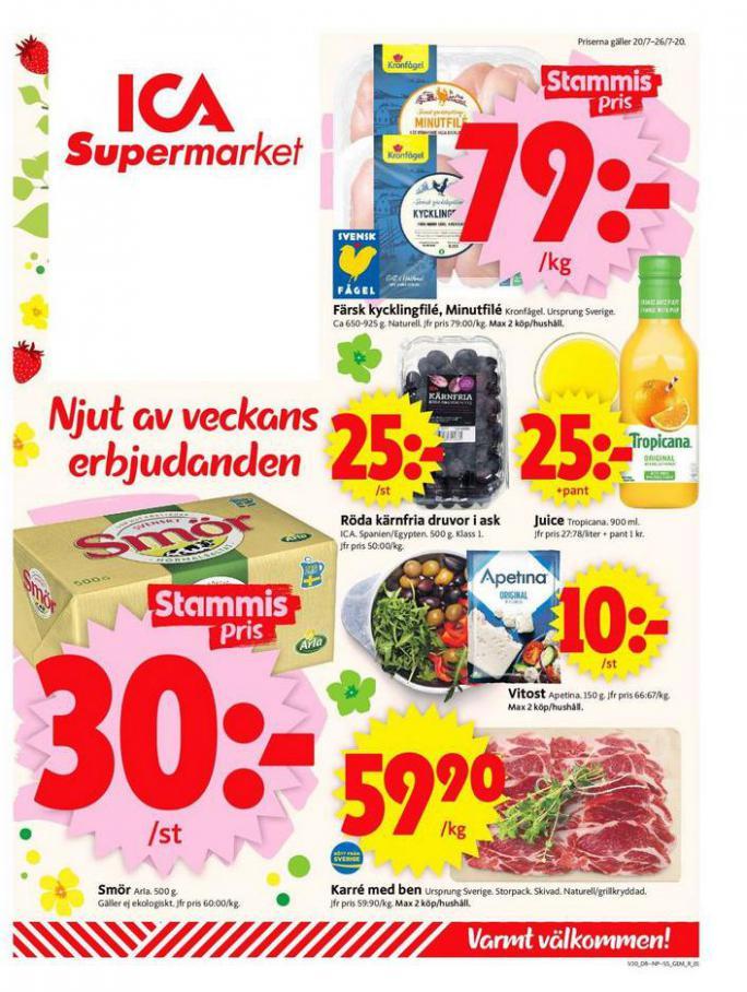 ICA Supermarket Erbjudanden . ICA Supermarket (2020-07-26-2020-07-26)