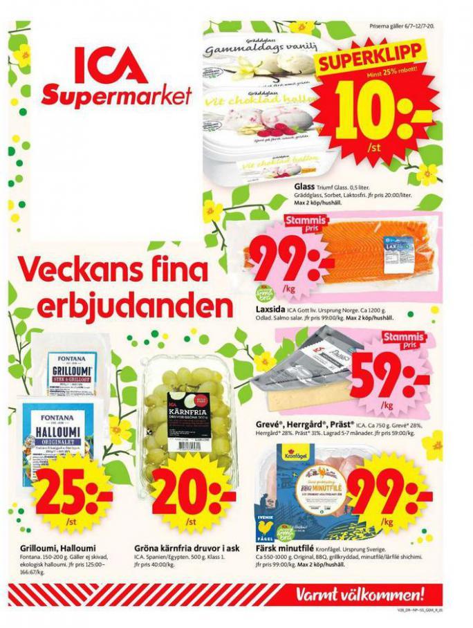 ICA Supermarket Erbjudanden . ICA Supermarket (2020-07-12-2020-07-12)