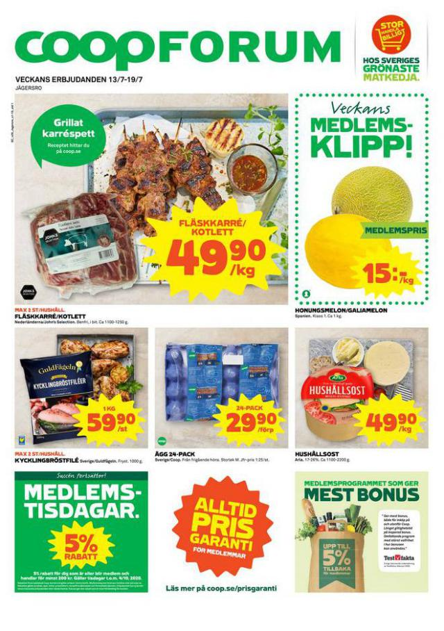 Coop Forum reklamblad . Coop Forum (2020-07-19-2020-07-19)