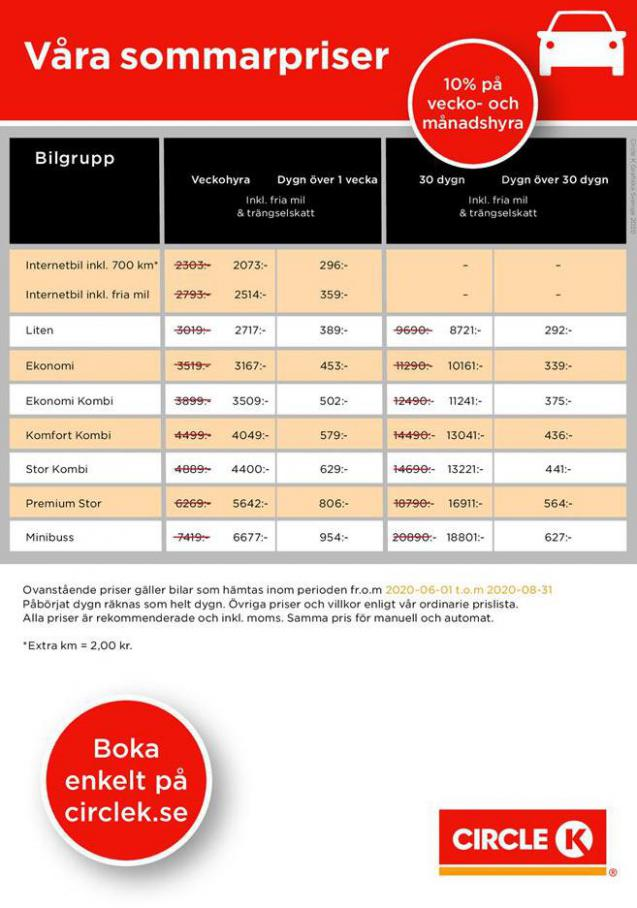 Våra Sommarpriser . Circle K (2020-08-31-2020-08-31)